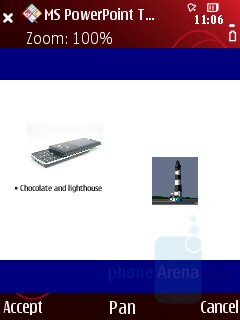 PowerPoint - Quickoffice - Nokia 5320 XpressMusic Review