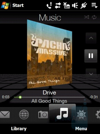 Music Player - HTC Touch Pro Review