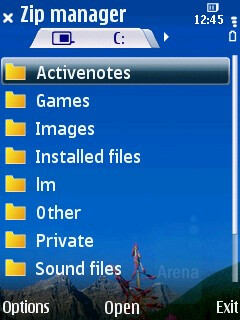 Zip manager - Nokia 6210 Navigator Review