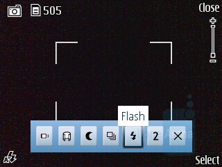 Camera interface - Nokia 6210 Navigator Review