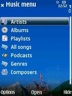 Music player - Nokia 6210 Navigator Review