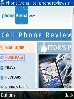 Internet browser - Nokia 6210 Navigator Review