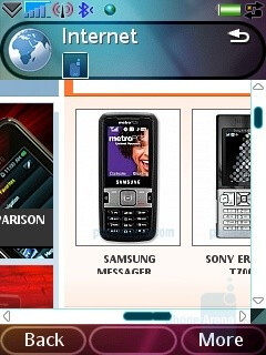 Browser - Sony Ericsson G900 Review
