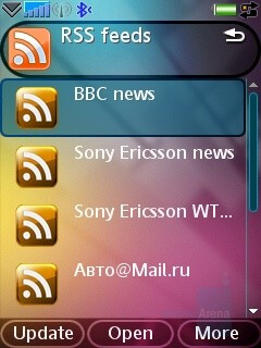 RSS Feeds - Sony Ericsson G900 Review