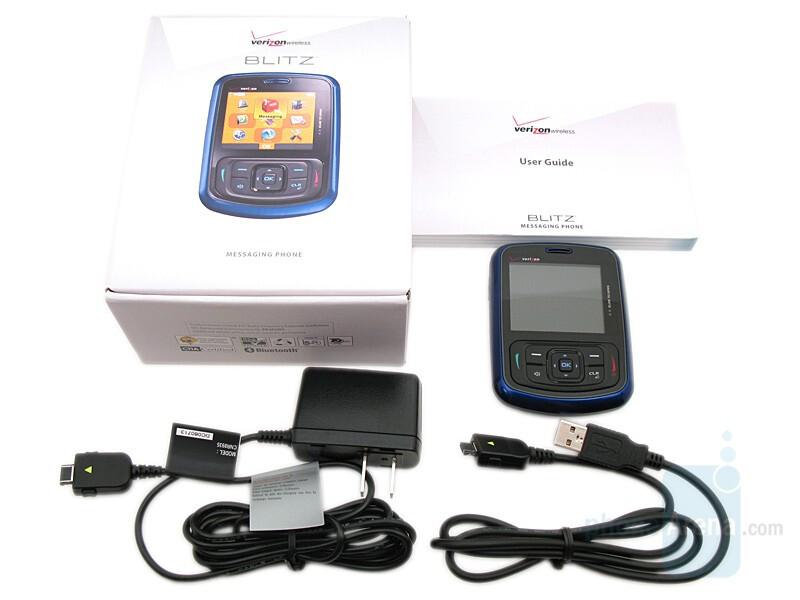 Lg unlocked phone: verizon wireless blitz phone, blue.