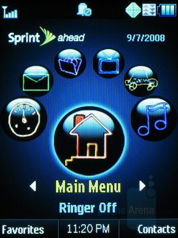 Sprint Ahead homescreen - Motorola RAZR VE20 Review