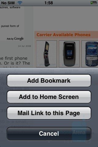 Apple iPhone - Touchscreen phone comparison Q3 - GSM phones