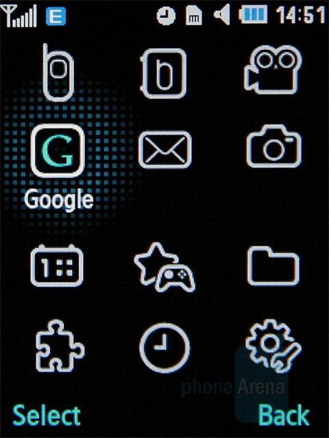 Main menu - Samsung SGH-G400 Review
