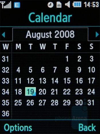 Calendar - Samsung SGH-G400 Review