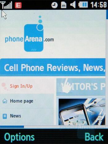 Internet browser - Samsung SGH-G400 Review