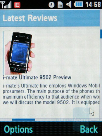 Internet browser - Samsung SGH-G400 Review