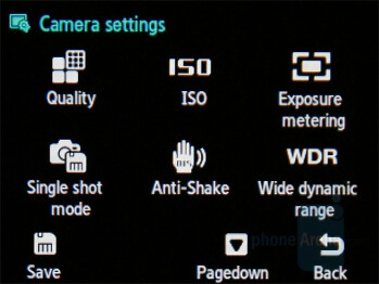 Camera interface - Samsung SGH-G400 Review