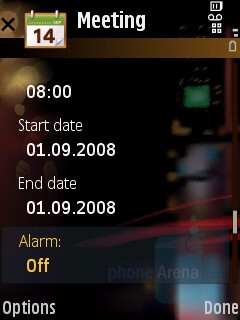 Calendar - Samsung SGH-G810 Review
