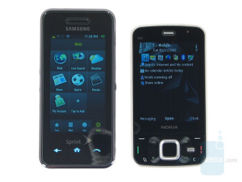 Samsung Instinct next to Nokia N96 - Nokia N96 Review