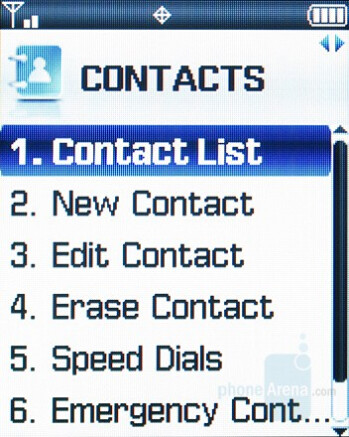 Contacts - Samsung Knack Review