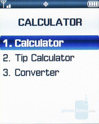 Calculator - Samsung Knack Review