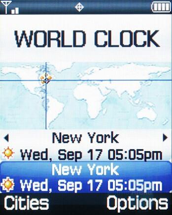 World Clock - Samsung Knack Review
