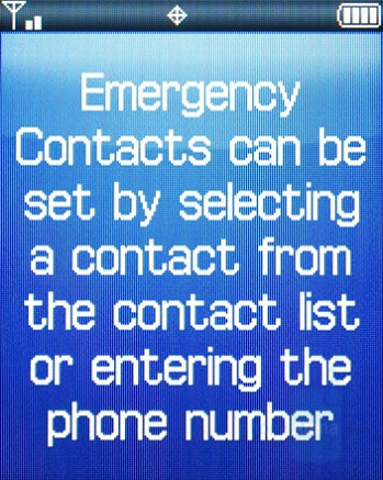 Emergency Contacts - Samsung Knack Review