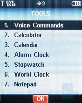 Tool Menu - Nokia 6205 Review
