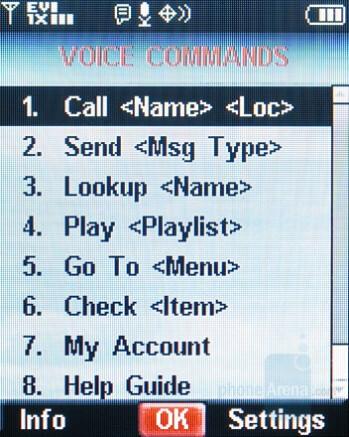 Voice Commands - Nokia 6205 Review
