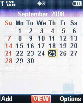 Calendar - Nokia 6205 Review