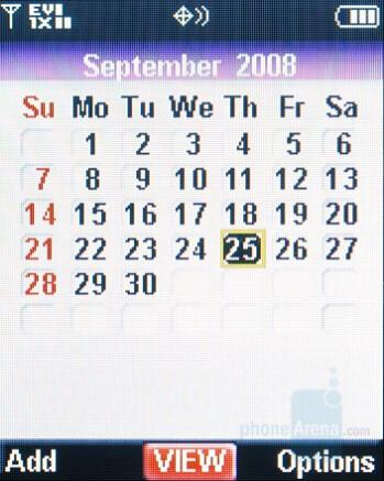 Calendar - Nokia 6205 Review