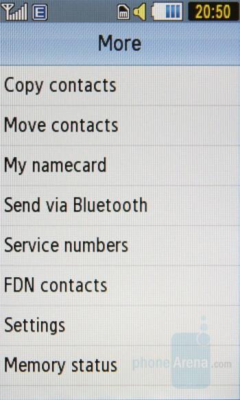 Phonebook - Samsung Pixon Preview