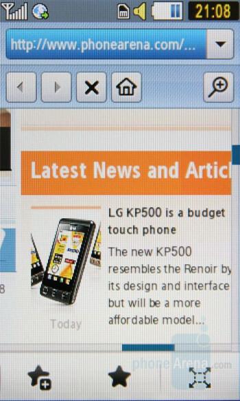 Browser - Samsung Pixon Preview