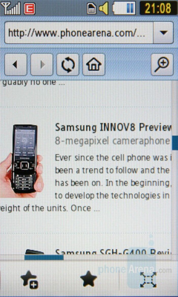 Browser - Samsung Pixon Preview