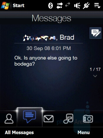 Messaging - HTC Touch Pro CDMA Review