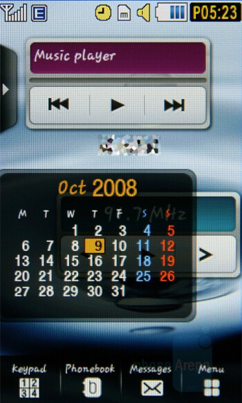 Home screen - Samsung Pixon Review