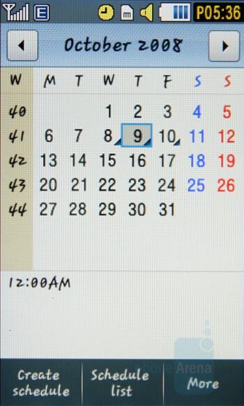 Calendar - Samsung Pixon Review