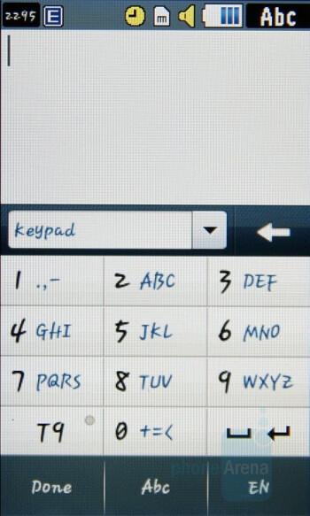 Keypad - Samsung Pixon Review