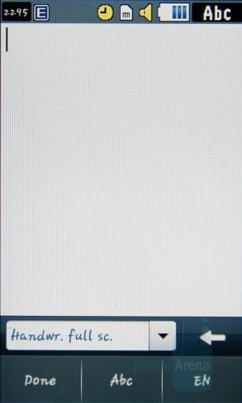 Fullscreen handwriting - Samsung Pixon Review