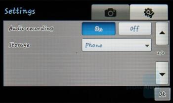 Camera interface - Samsung Pixon Review
