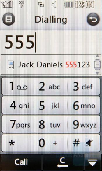 Dialing Screen - LG Renoir Review