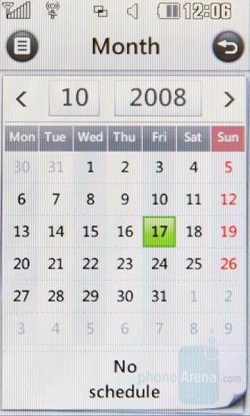 Calendar - LG Renoir Review
