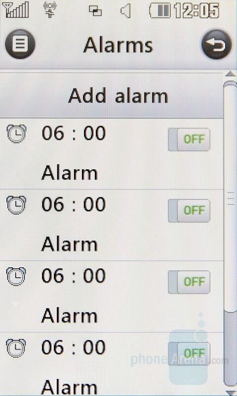 Alarms - LG Renoir Review