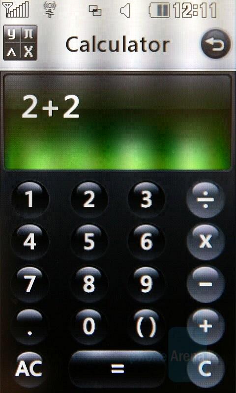 Calculator - LG Renoir Review
