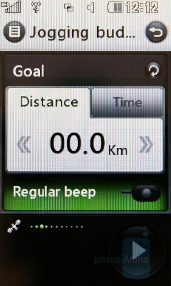 Jogging assistant - LG Renoir Review
