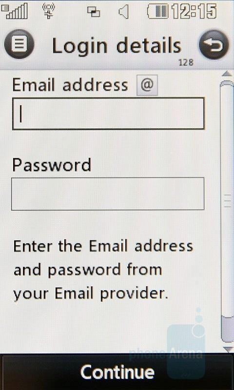 Email client - LG Renoir Review