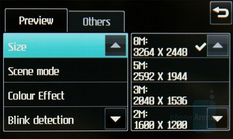 Camera Interface - LG Renoir Review