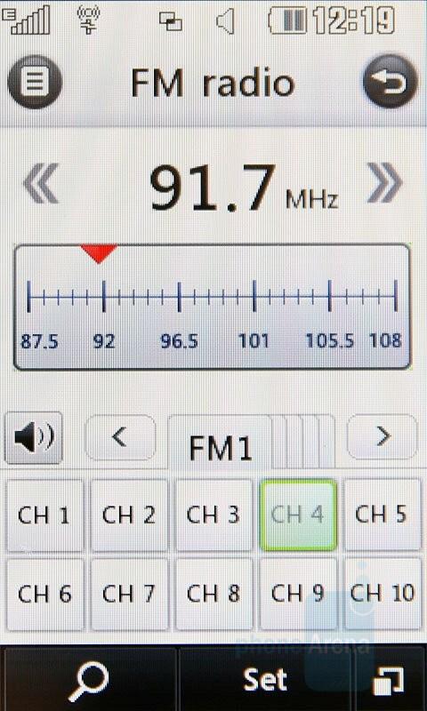 FM Radio - LG Renoir Review