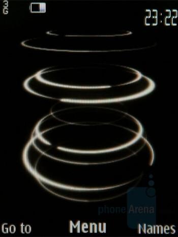 Home screen - Nokia 8800 Carbon Arte Review