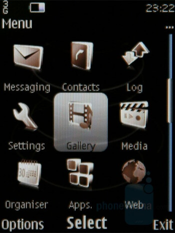 Main menu - Nokia 8800 Carbon Arte Review