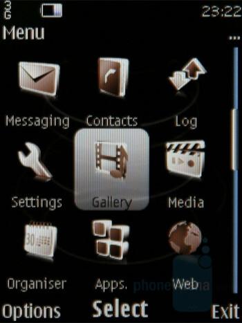 Main menu - Nokia 8800 Carbon Arte Review