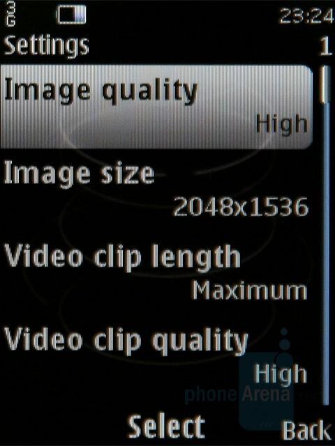 Camera interface - Nokia 8800 Carbon Arte Review