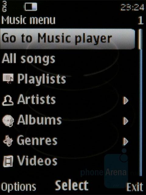 Music player - Nokia 8800 Carbon Arte Review