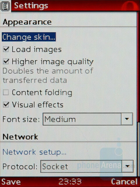 Internet browsing - Nokia 8800 Carbon Arte Review