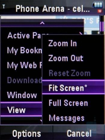 Internet Browser - Motorola ZINE ZN5 Review